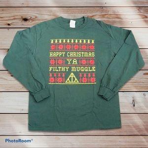 HP Happy Christmas Ya Filthy Muggle Longsleeve